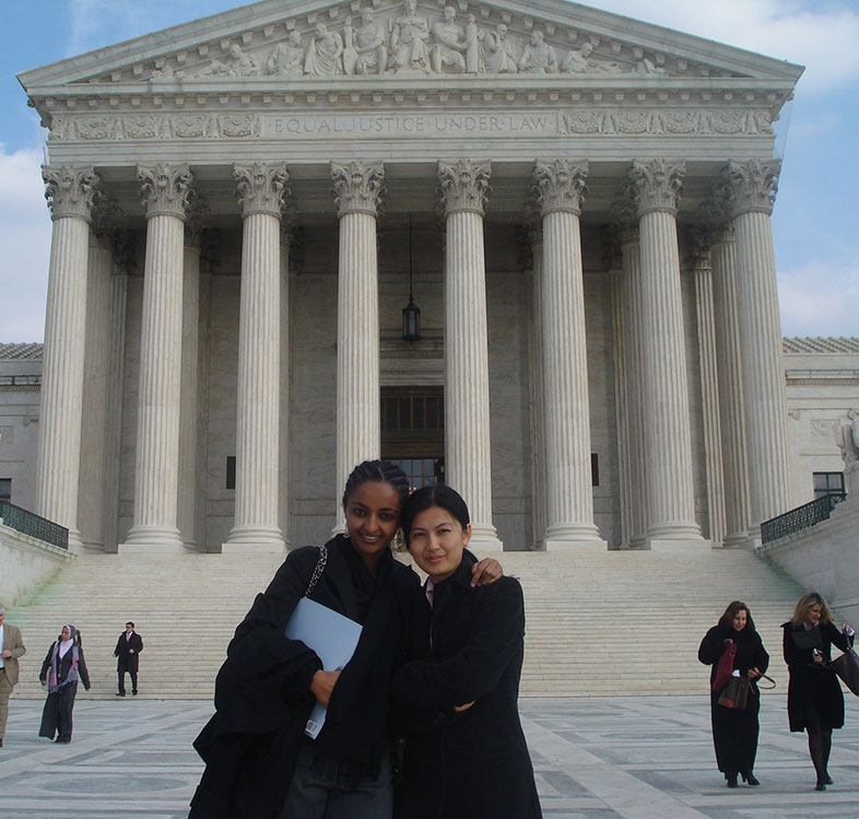 two law students in Washington D.C.