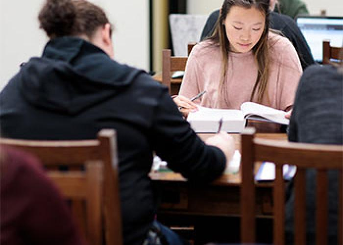 Study in the library ONU law